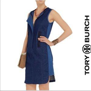 Tory Burch pieced denim dress